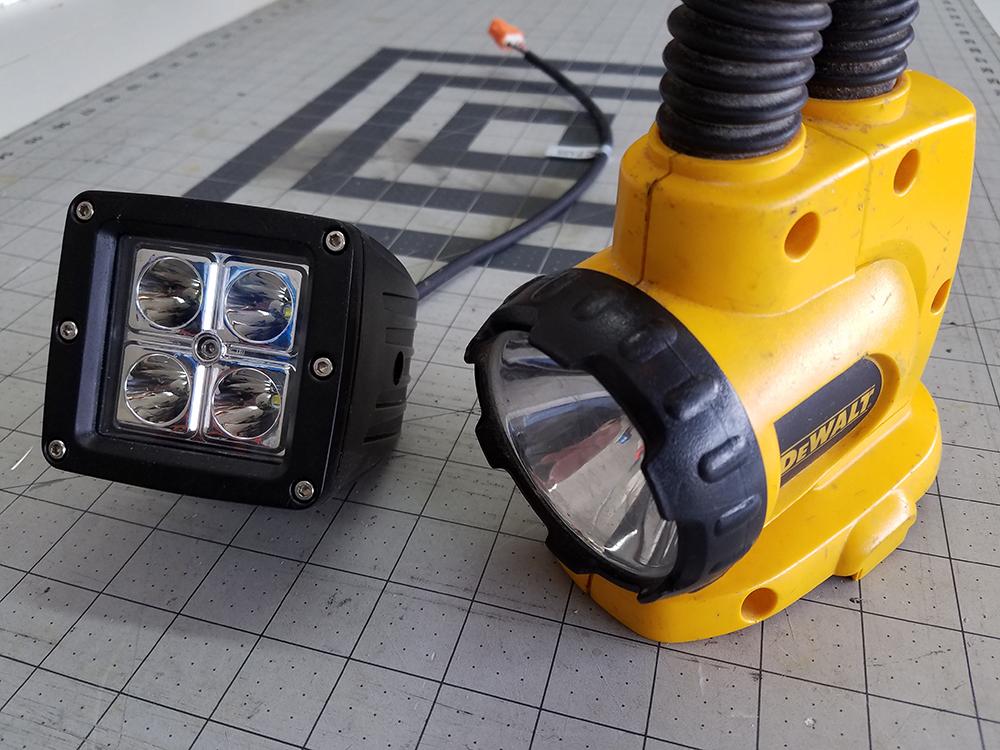 Diy Dewalt Flashlight Led Upgrade William Hare S Portfolio